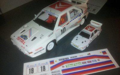 Citroen BX 4TC Gr B – Kit Décalcos 1/18eme – 1/43eme