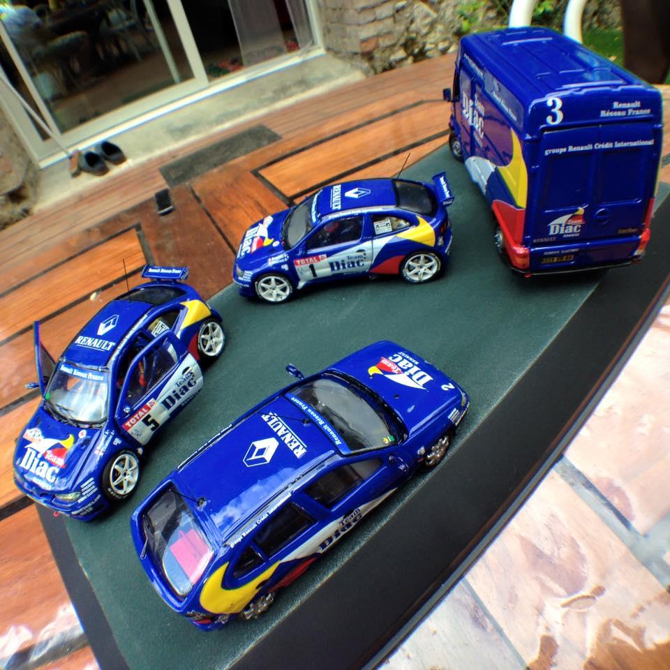 Team Renault Diac - Maxi Megane et assistance - Bugalski / Ragnotti - Grasse Alpin 1996