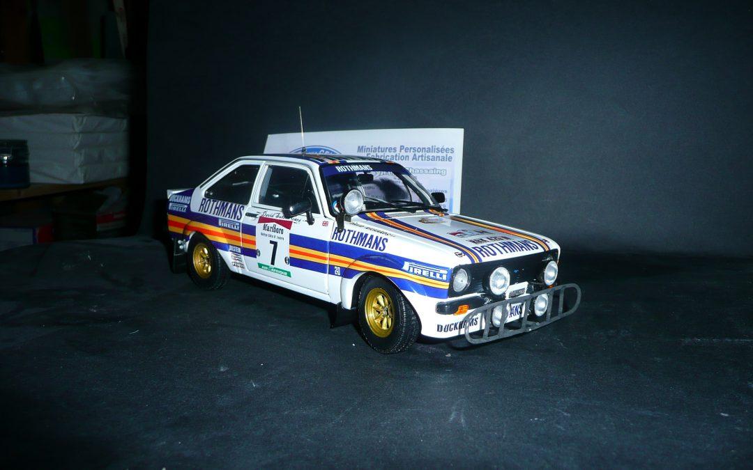Ford RS 1800 Ari Vatanen Rallye Bandam 1981 1/18eme